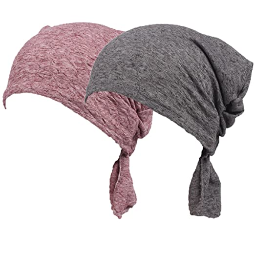 38c9d6ef372 Womens Solid Color Ethnic Cloth Print Turban Headwear Chemo Cancer Head  Scarf Hat Cap (Color