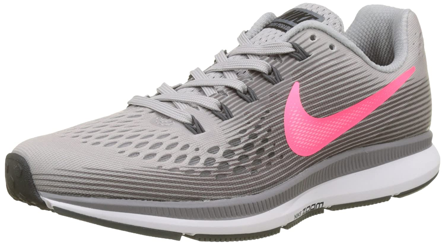 new product cecba aea3d Amazon.com   Nike Women s Air Zoom Pegasus 34 Running Shoe Grey Racer Pink Gunsmoke    Road Running