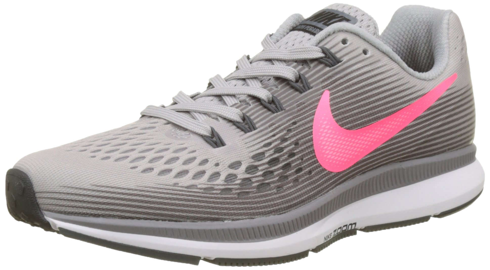 Nike Women's Air Zoom Pegasus 34 Running Shoes (9 B US, Atmosphere Grey/Racer Pink/Gunsmoke)