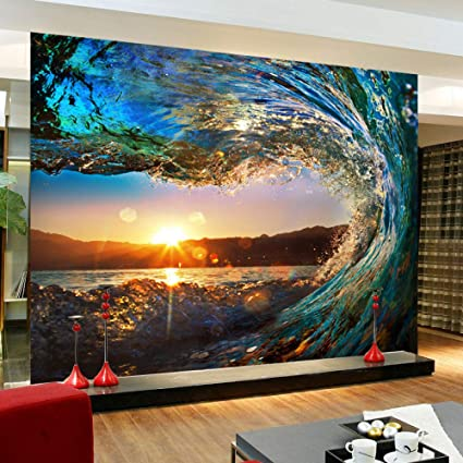 Amazon Com Gmyanbz 3d Wall Murals Wallpaper Landscape Ocean