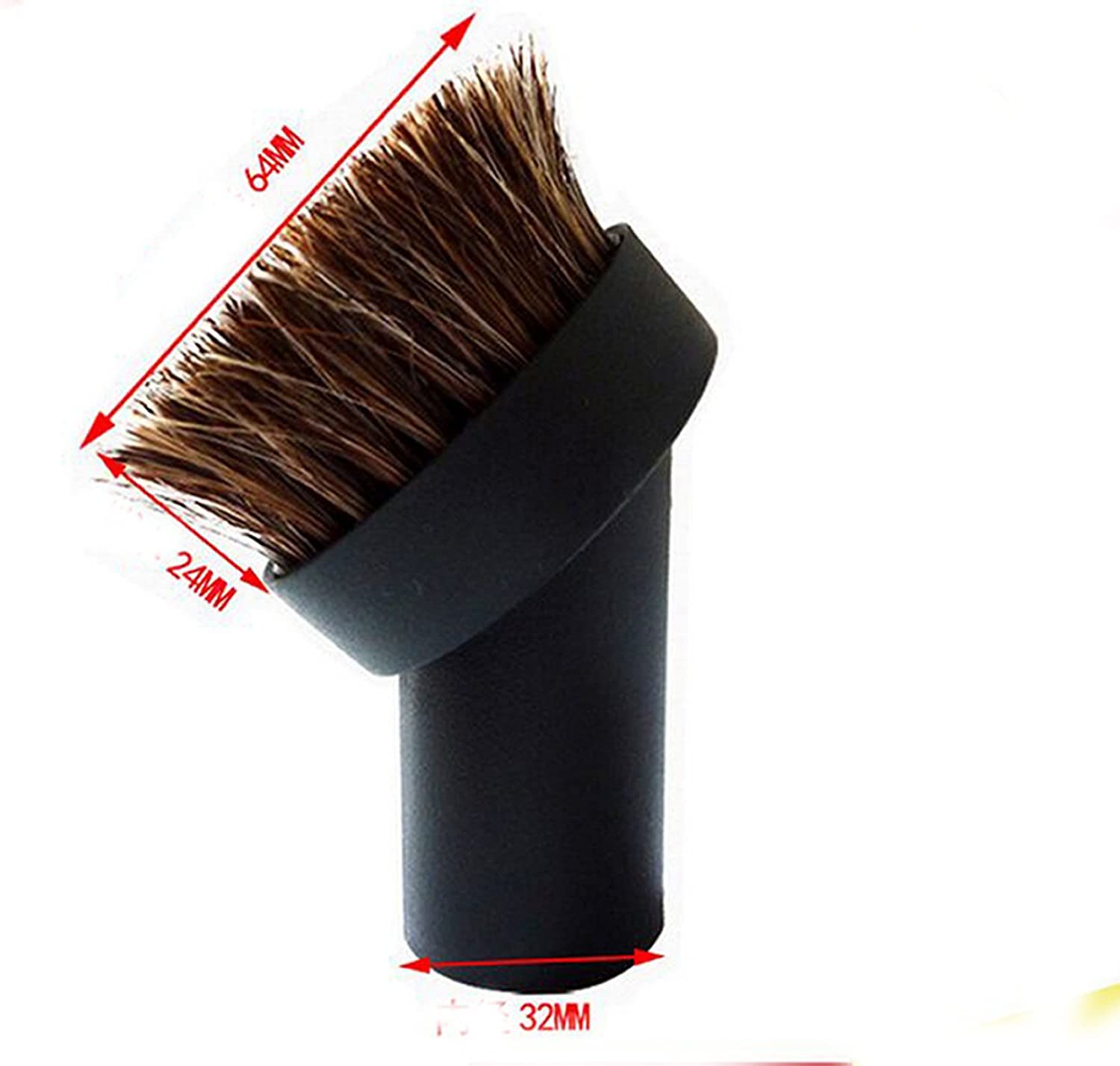 Round Vacuum Cleaner Attachment Round 32mm Horse Hair Dusting Brush Dust Tool