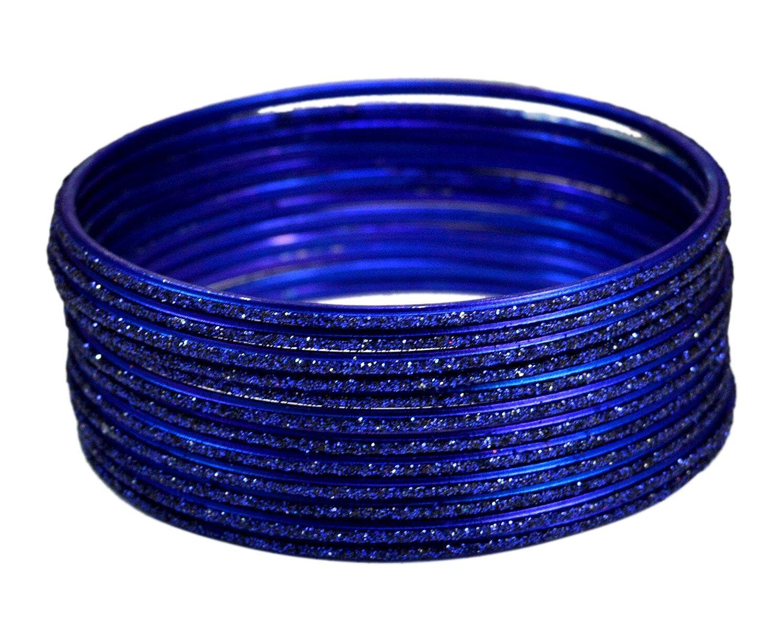 Chudi Dark Blue Color Traditional Bollywood Fashion Casual Wear Metal Bangles