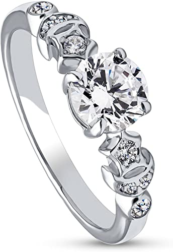 SALE 6Grape 2carat AAA Cubic Zirconia Women Engagement Ring 925 Sterling Silver
