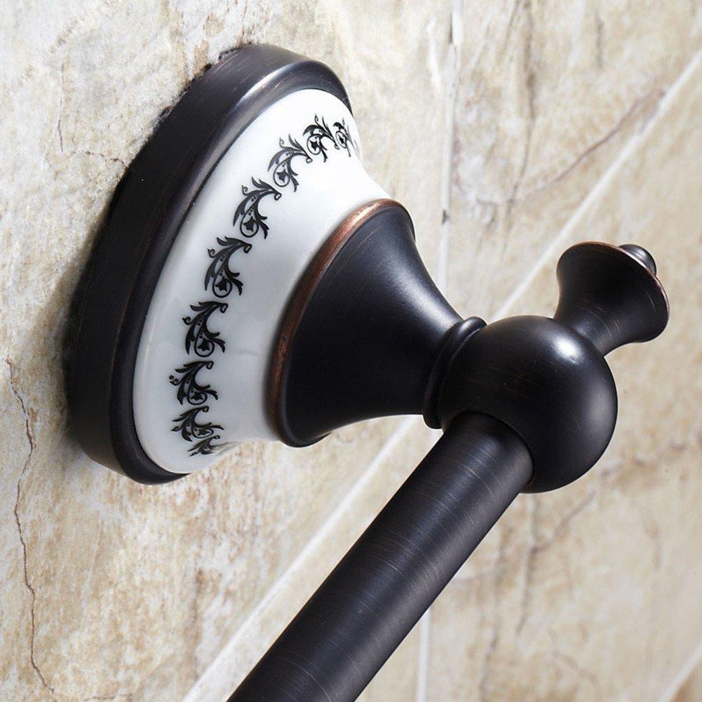 DENG&JQ Keramik-handtuchhalter Einzelstab Matt-schwarz Bronze antik antik antik Luxus-Badezimmer Kupfer Badezimmer anhänger Wand-handtuchhalter 60cm-A B07P772NB8 Handtuchhalter & -stangen f7bbf8