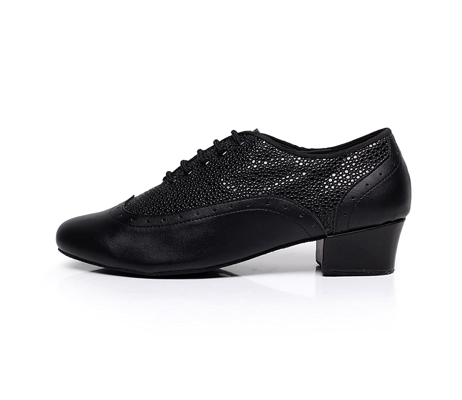 c0aed4c2043b Minishion TQJ9019 Men's Round Toe Leather Tango Latin Ballroom Dance Shoes