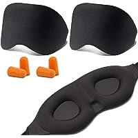 T Tersely Sleep Mask, Eye Mask,[2 PACK] [BONUS Ear Plug] Soft Skin-Friendly Pure Natural Memory Foam Padded Shade Cover…