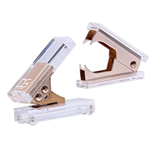 Gold Acrylic 1-Hole Punch and Staple Remover by Draymond Story - Desktop Stationery Series