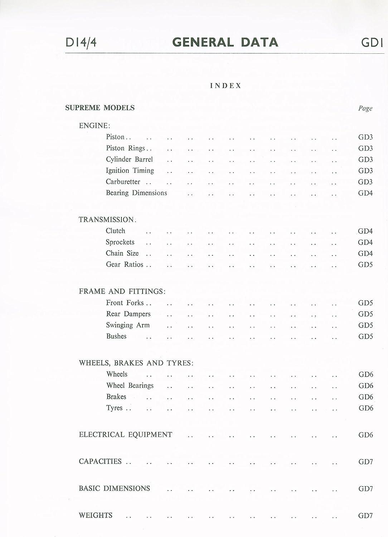 GS07424 Workshop Manual BSA Bantam /& Bushman B175 Models 1969 onwards.