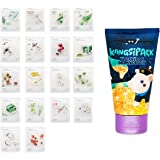 Innisfree My Real Squeeze Mask Sheet x 18 sheets + Kangsi Pack Blackhead remover Deep Cleansing 24K Gold Mask