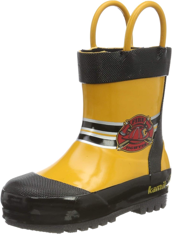 Kamik Unisex-Child Fireman Rain At the price of surprise Boot Max 74% OFF
