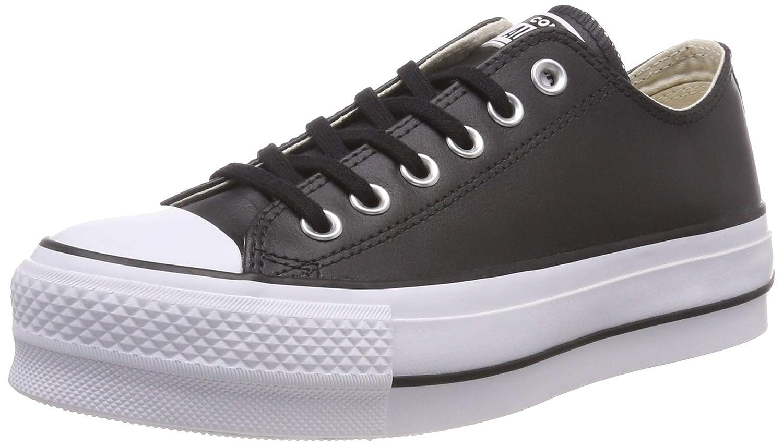 TALLA 36 EU. Converse CTAS Lift Clean Ox Black/White, Zapatillas para Mujer