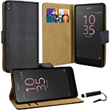 Case Collection Premium Leather Folio Cover for Sony Xperia E5 Case Magnetic Closure Full Protection Book Design Wallet Flip with [Card Slots] and [Kickstand] for Sony Xperia E5 Phone Case