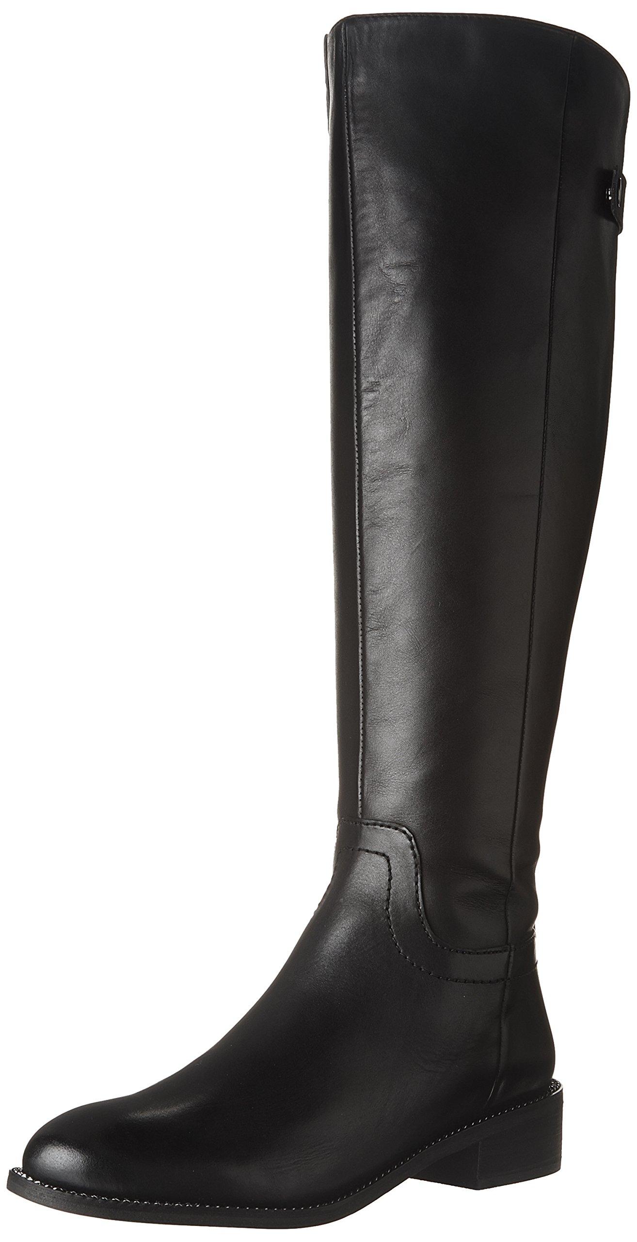 Franco Sarto Women's Brindley Equestrian Boot, Black, 7.5 M US by Franco Sarto