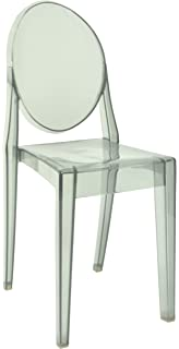 Emmiline Clear 8 Colours Ghost Dining Chair, Armchair Designer Modern Style  (Smoky Clear)