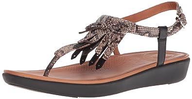 000b0bfc0c5 Amazon.com  FitFlop Women s Tia Fringe Toe-Thong Sandals Flat  Shoes