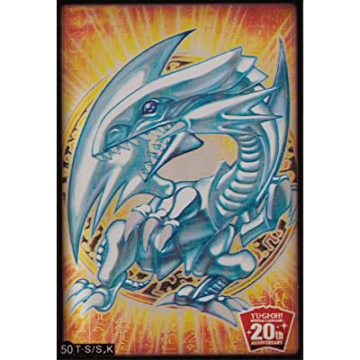 (100) Yu-Gi-Oh Card Protecter Blue-Eyes White Dragon Card Sleeves 100 Pieces 63x90mm #50: Toys & Games