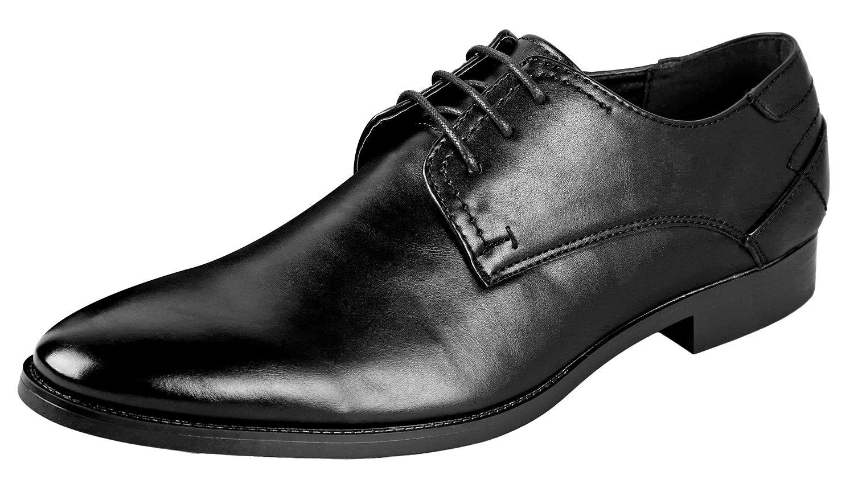 Urban Fox Men's Vincent Oxford Dress Shoes   Lace Up Oxfords   Mens Oxford   Classic Dress Shoes   Black 7 by Urban Fox