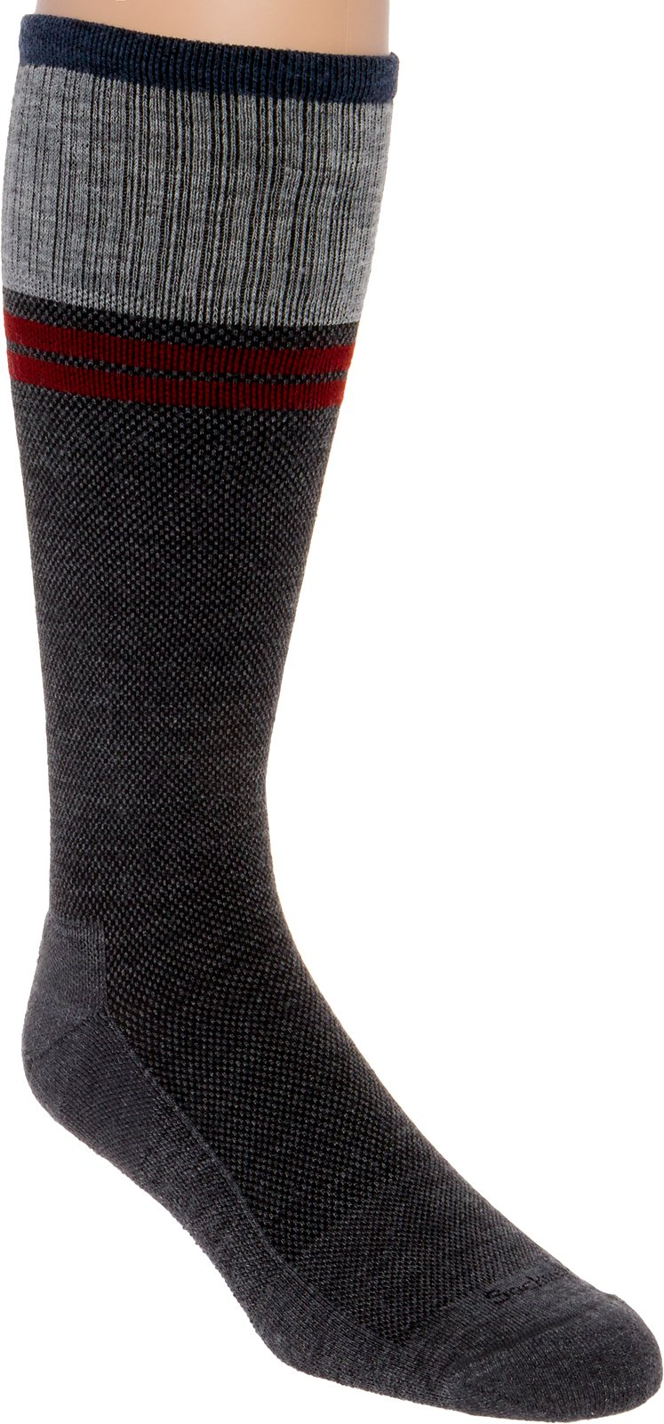 Sockwell Men's Sportster Moderate Compression Socks (Charcoal, L/XL)