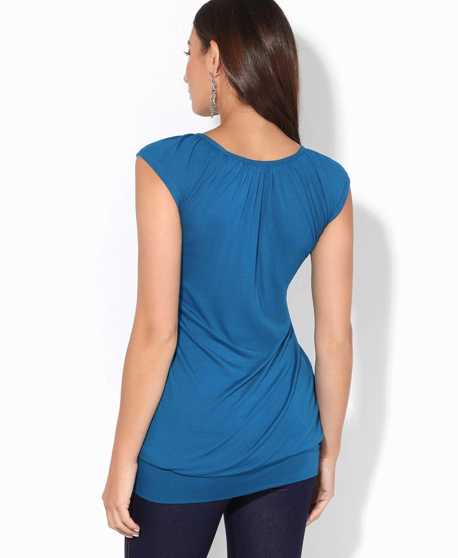 KRISP/® Basic Maglia Maglietta Donna Loose Casual Camicetta Spring Tops
