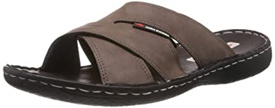 3f7240a7d5fc6 High Sierra Men's Brown Leather Sandals and Floaters - 6 UK: Buy ...