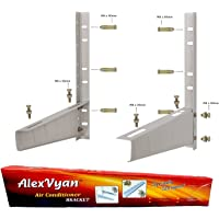 AlexVyan Special Coated Super Quality Split Ac Air Conditioner Outdoor Unit Wall Mounting Bracket Stand Mount for 1 Ton, 1.1 Ton, 1.2 Ton, 1.5 Ton, 2 Ton for All Company Ac Outdoor Units