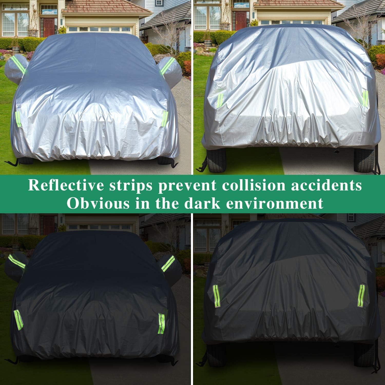 485 x 190 x 185 cm Florvine SUV Autoabdeckung wasserdicht atmungsaktiv winddicht geeignet f/ür SUV