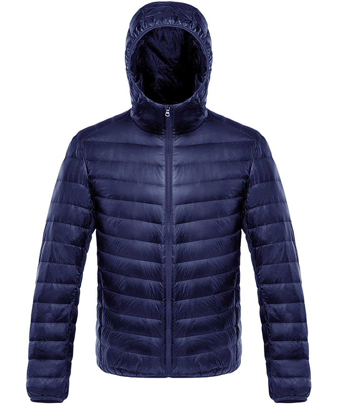 Yifun Outdoor Mens Hooded Packable Lightweight Down Jacket