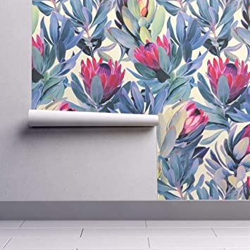 Protea Wallpaper Sample Swatch Proteas Painted Floral South Africa