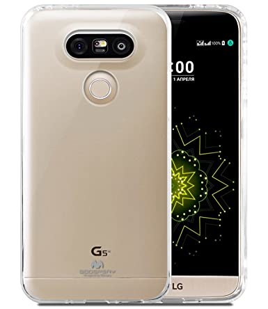 half off 2bb2f e2091 LG G5 Case, [Ultra Slim Fit] Goospery® Clear Jelly Case [Transparent]  Premium TPU Case Cover [Anti-Yellowing/Discoloring Finish] for LG G5 - Clear