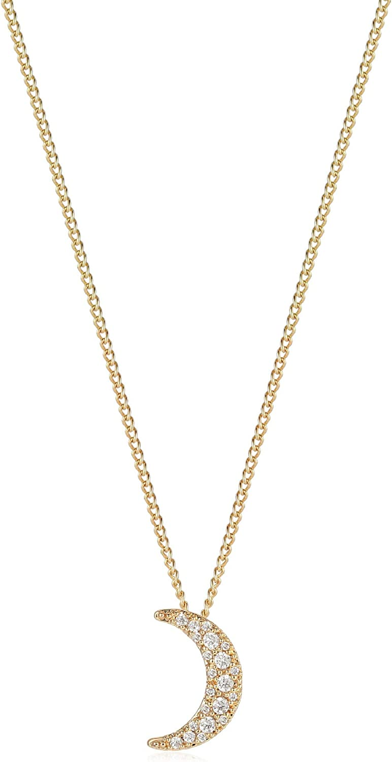dainty gold filled chain necklace Gold plated geometric pendant moon shape pendant gold jewelry Half Moon Geometric Necklace in Gold