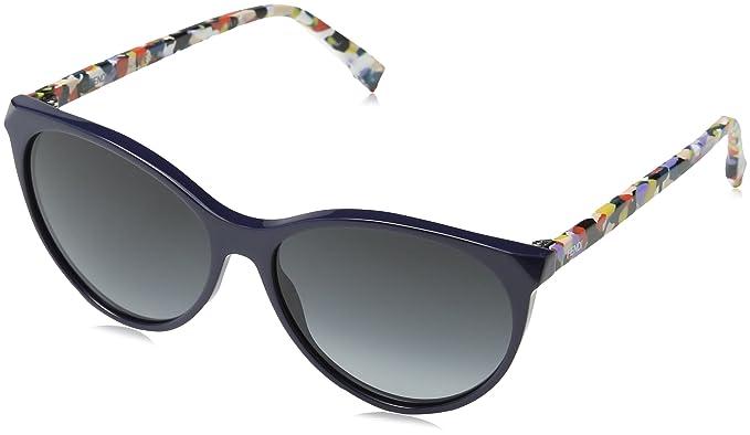 Fendi Damen Sonnenbrille FF 0170/S 9O Ttw, Blau (Bluette Multic/Dark Grey Sf), 57