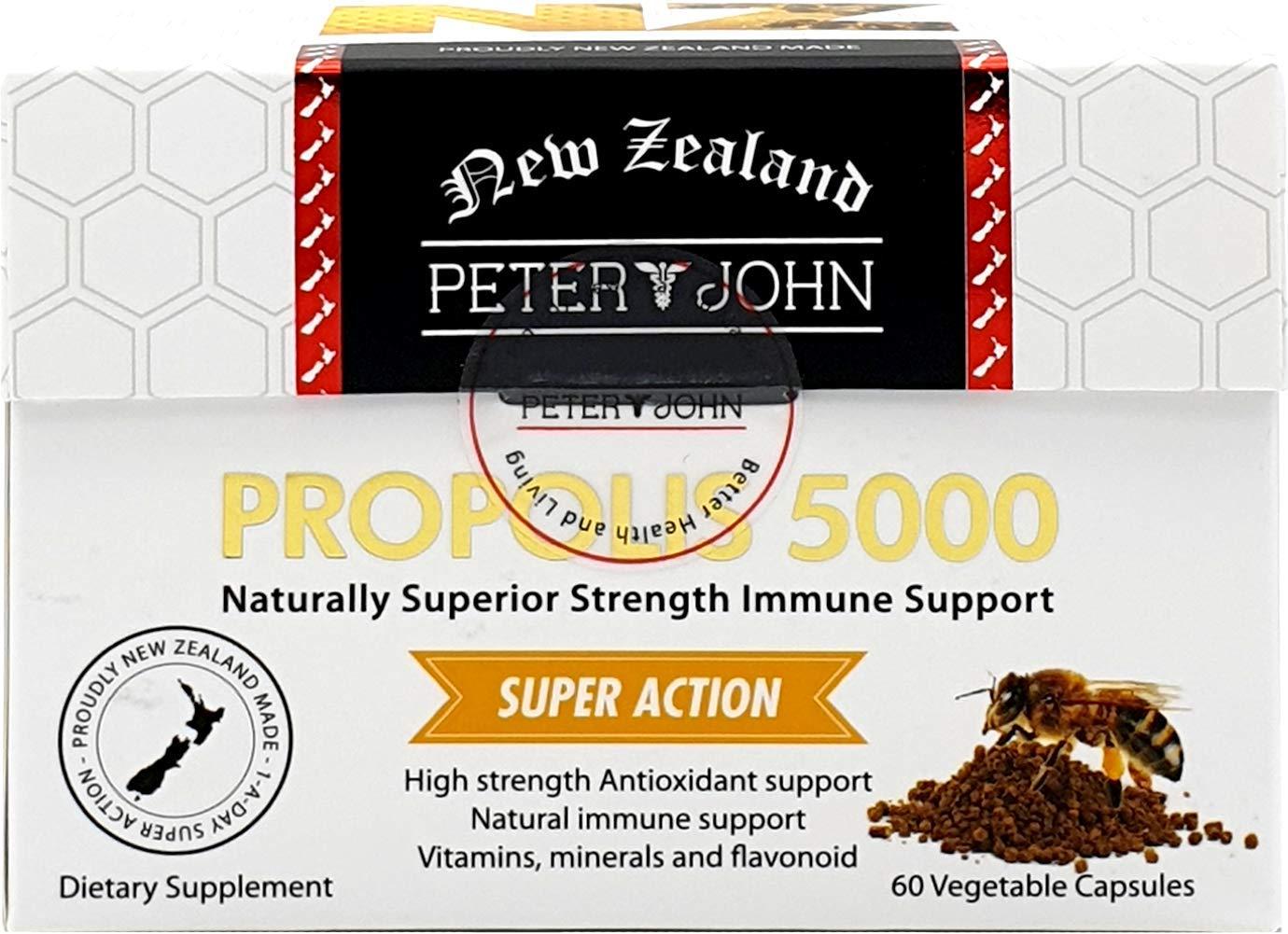 Peter&John Propolis 5000 Flavonoids 70mg Capsule Strength Immune Support (60c / 1 Pack)