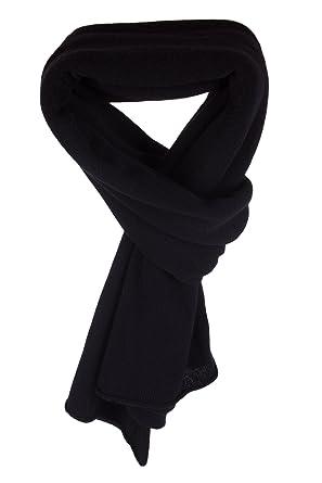 26f907a105b Love Cashmere Écharpe-Plaid pour Femme 100% Cachemire - Noir - Fait main à