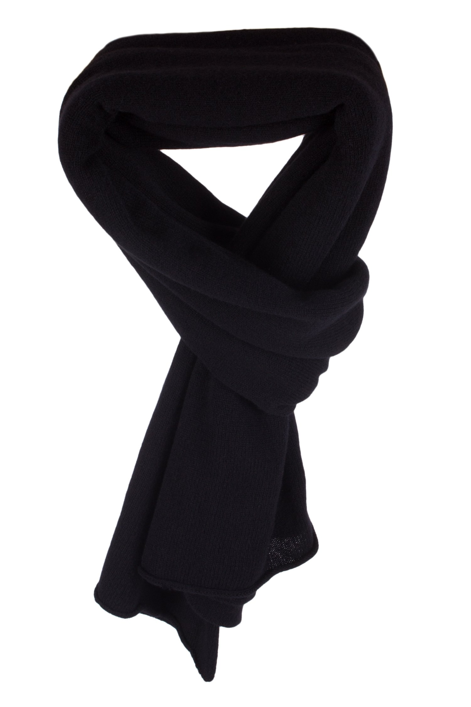 Ladies 100% Cashmere Wrap Scarf - Black - hand made in Scotland by Love Cashmere