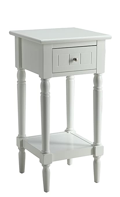 White Country Accent Tables Restaurant Interior Design Drawing - Convenience concepts french country coffee table