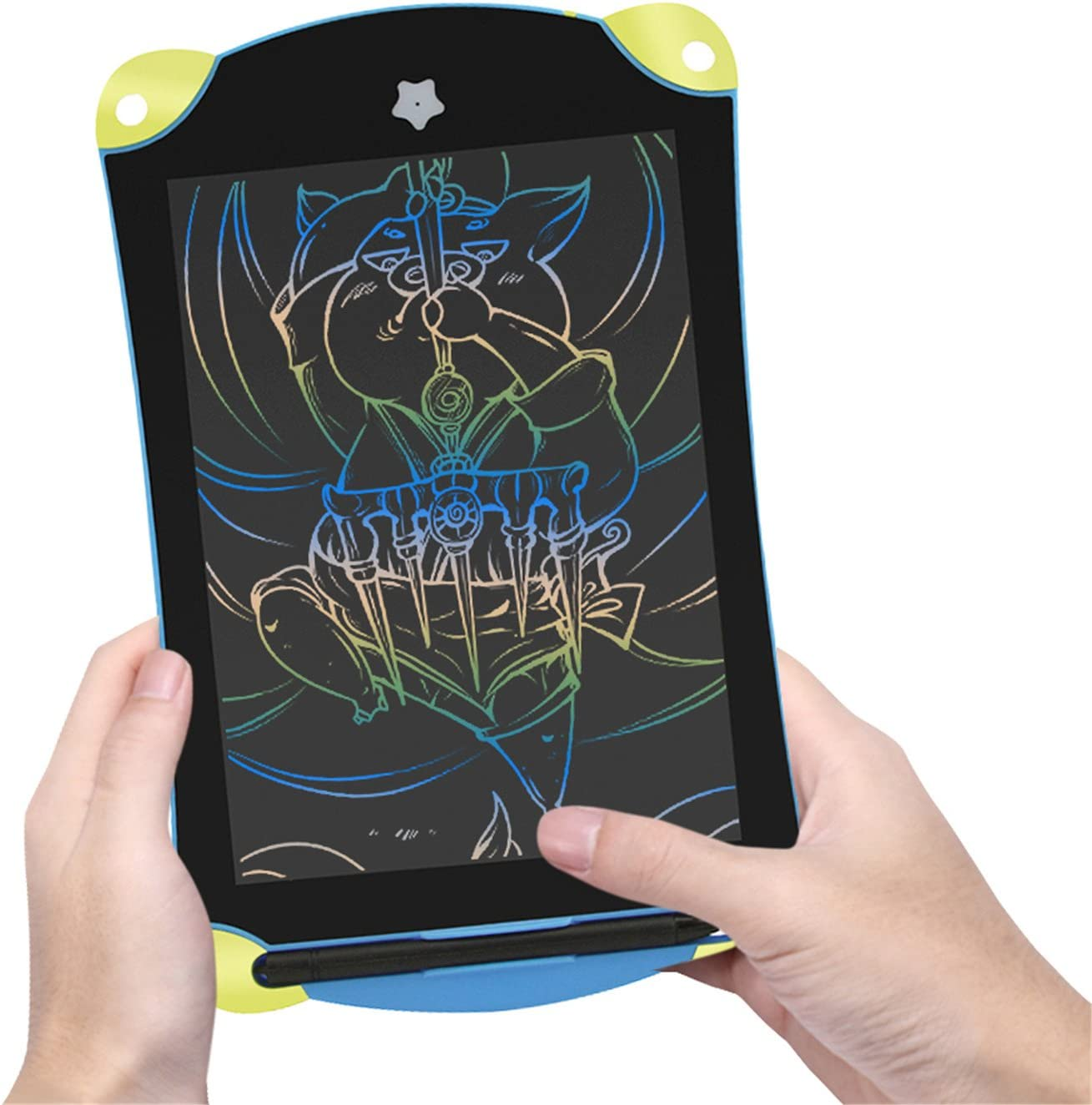 Multicolor 8.5inch LCD Writing Tablet,Colorful Screen Drawing Board,Screen Lock Electronic Writing Board,Portable Drawing Board,Notepad with stylus,Great Gift for Kids,Adults,at Home,School,Work.