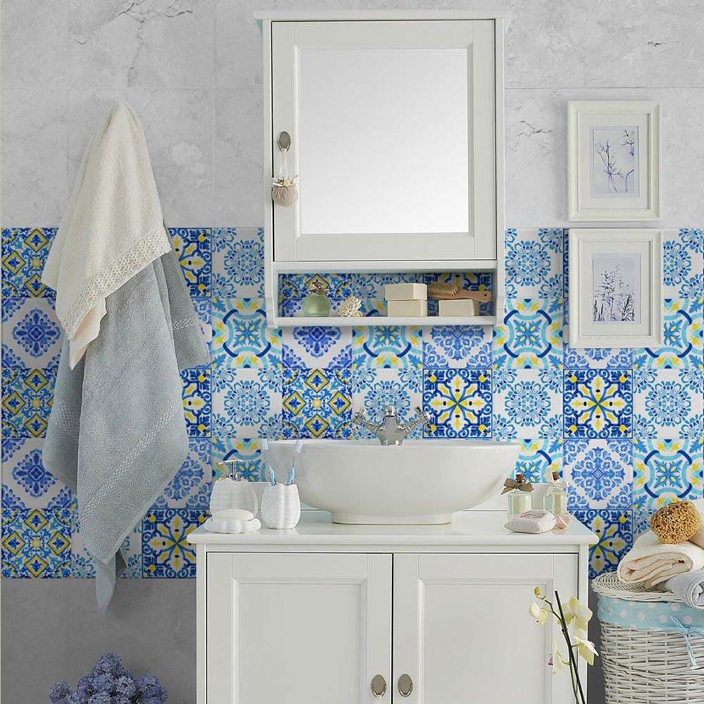Carrelage Autocollants tuile décor cuisine salle de bain wc Carrelage Autocollant 200 pièce en 15x15 CM