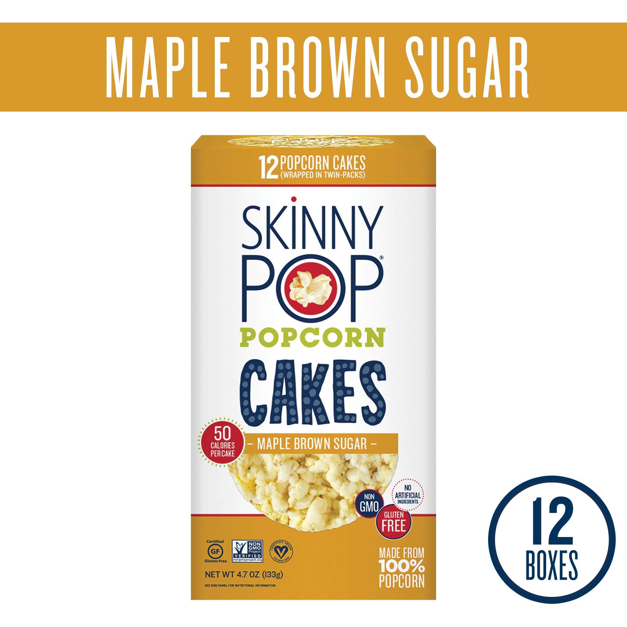 SkinnyPop Popcorn Cakes, Maple Brown Sugar Popcorn Cakes, 4.7 Ounce (Pack of 12) by SkinnyPop (Image #1)