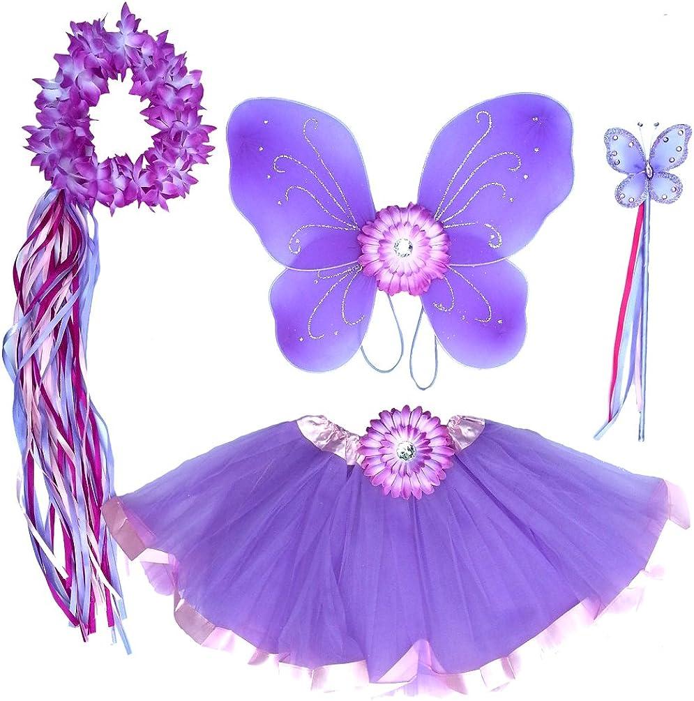 Seasons Halloween Girls Rainbow Butterfly Fairy Costume