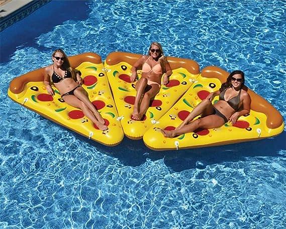 WeeLion Gigante Inflable Personalidad Pizza Flotante Fila, Piscina Flotador Verano Flotante Piscina Juguete Playa Ocio Bola Flotante Juguete: Amazon.es: ...