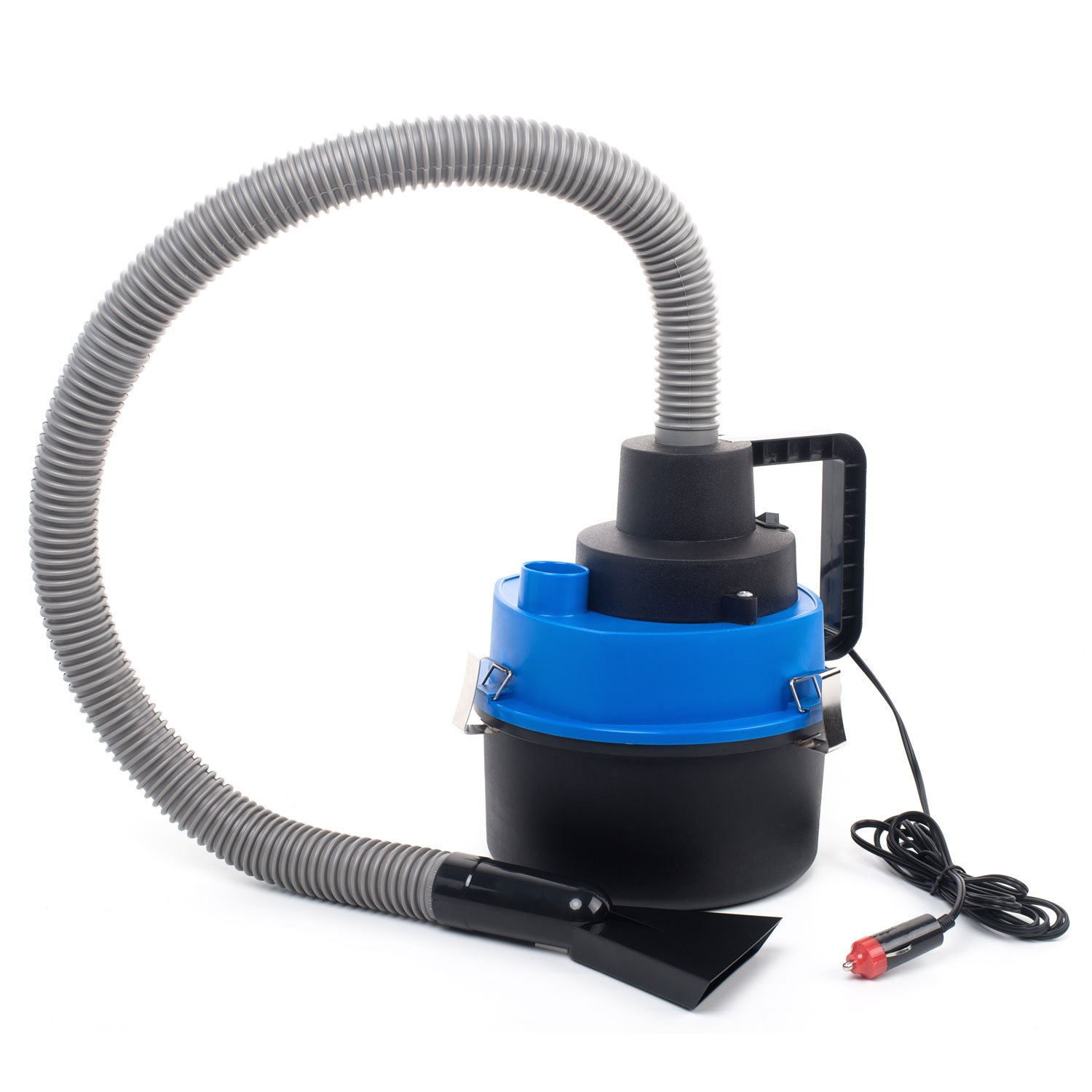 12 Volt Wet/Dry Auto Canister Vacuum Perfect for Car, Auto, Truck, Van, or Vehicle. Low Powered 12 Volt Cigarette Lighter Socket. Portable 12V Light Duty Vac
