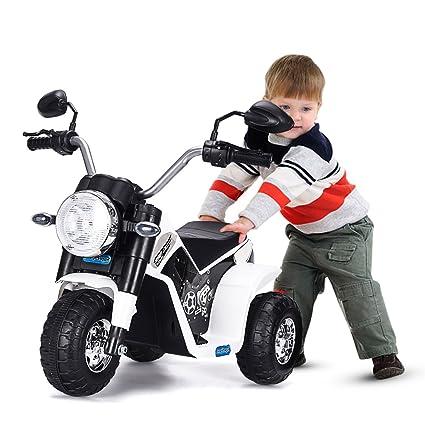 Amazon.com: lazymoon blanco niños paseo en moto 6 V juguete ...