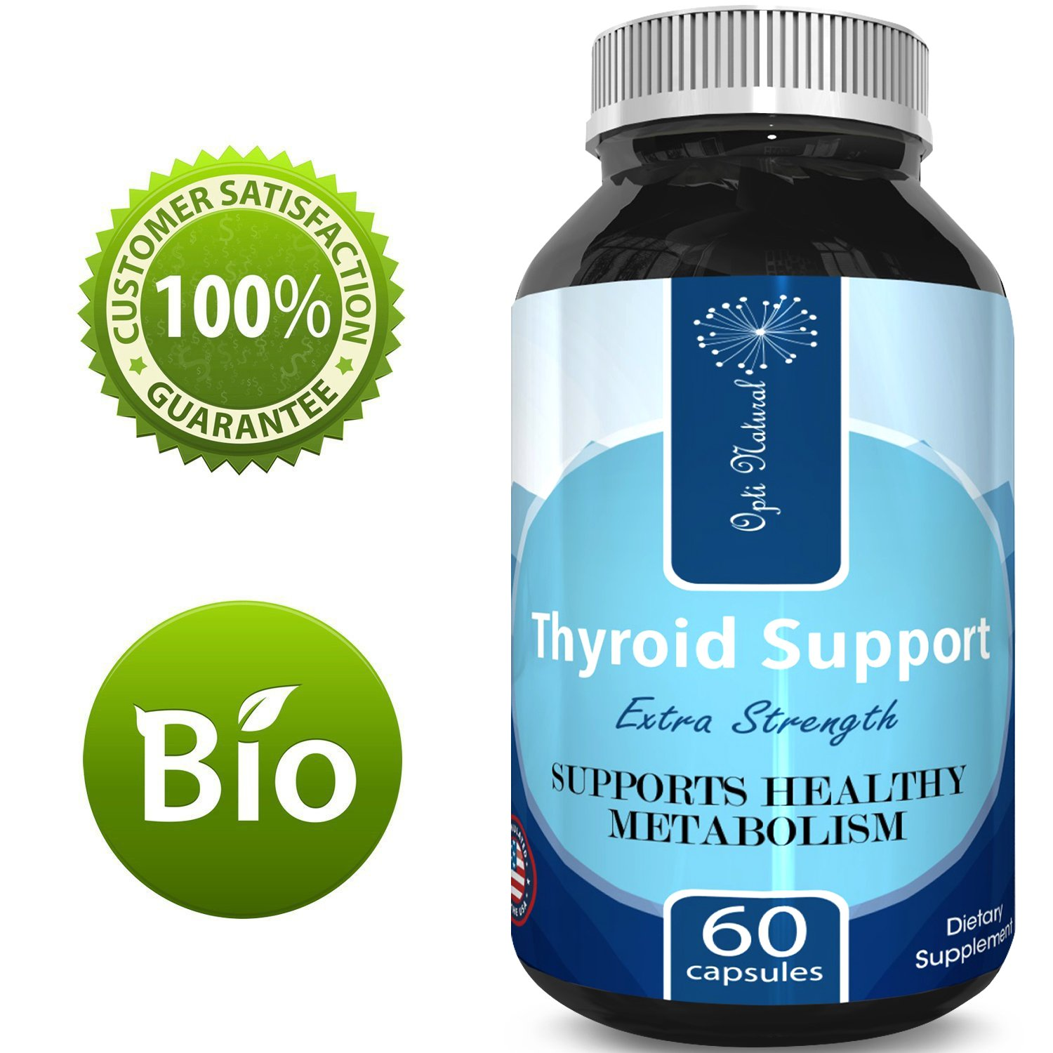 Thyroid Support Supplement – Pure And Potent Weight Control And Weight Loss Pills – With Kelp + Bladderwrack + Schizandra + Ashwagandha – Boost Immune System – Best Thyroid Support By Opti Natural