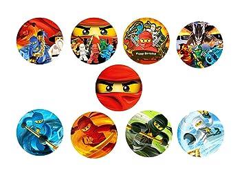 30 X Ninjago Essbares Reispapier Cupcake 3 8 Cm Bild 1 Amazon De