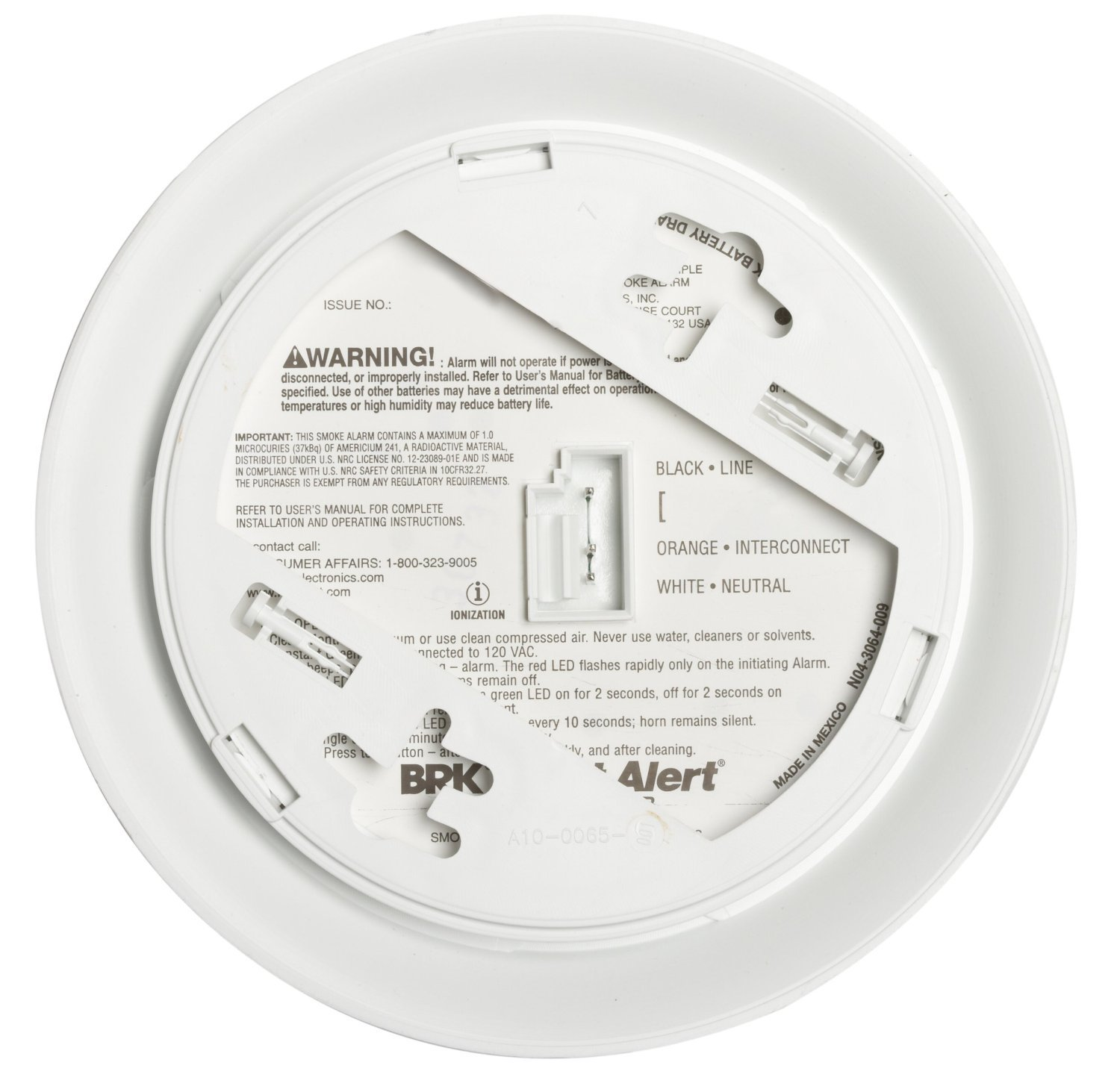 First Alert BRK Brands 9120B Hardwired Smoke Alarm with Battery Backup 4 Pack by First Alert (Image #2)