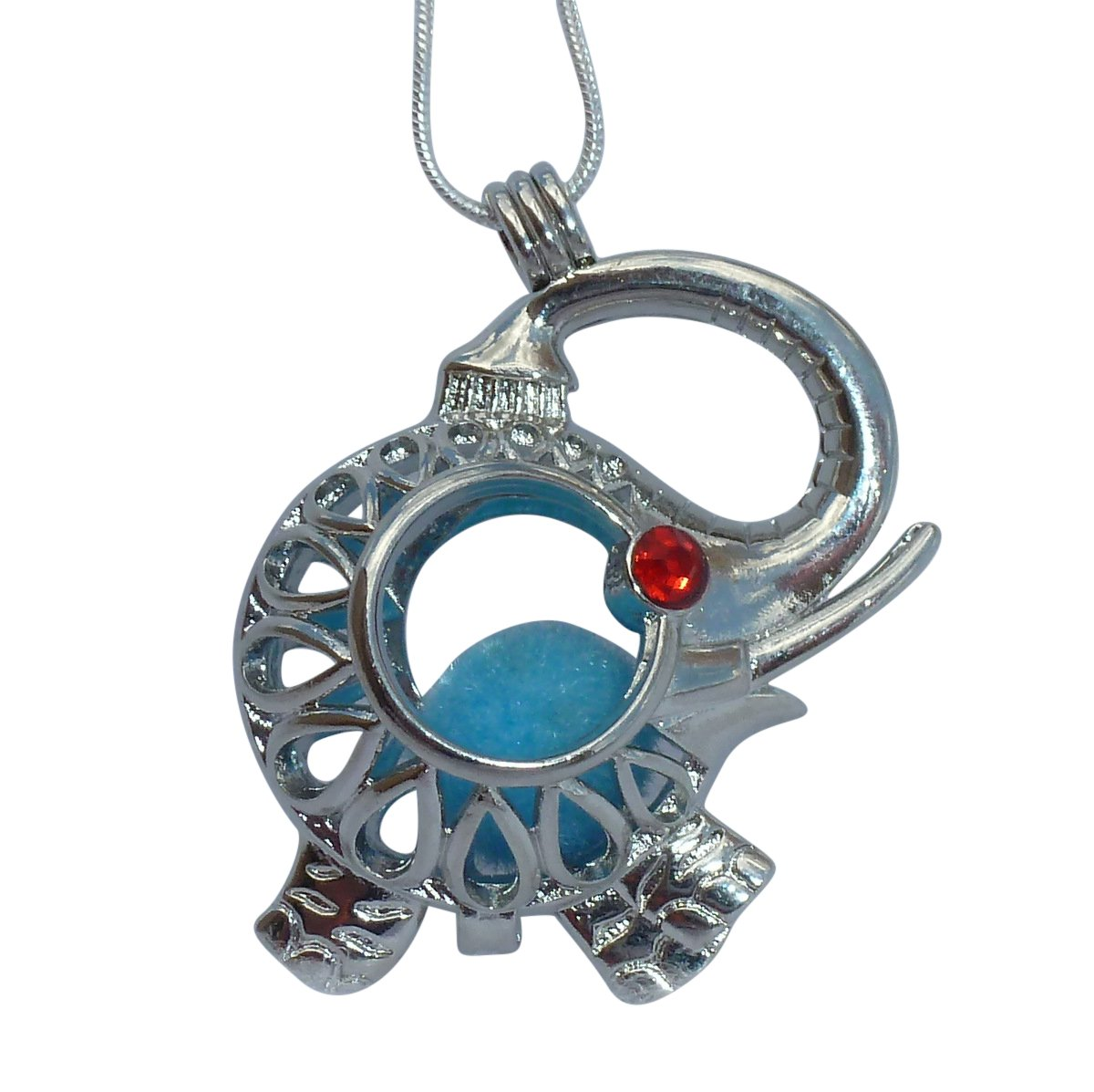 Your Personal Stylish Essential Oil Diffuser Necklace Steampunk Baby Elephant b1 0