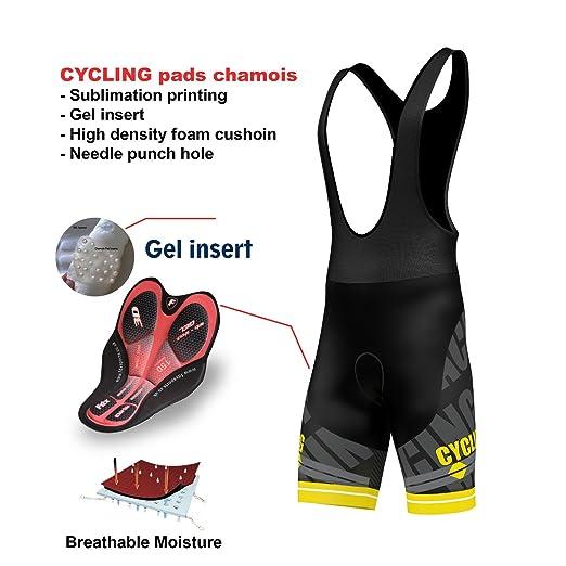 10 opinioni per FDX–salopette per ciclismo, imbottita in gel 3D, pantaloncini da ciclismo con