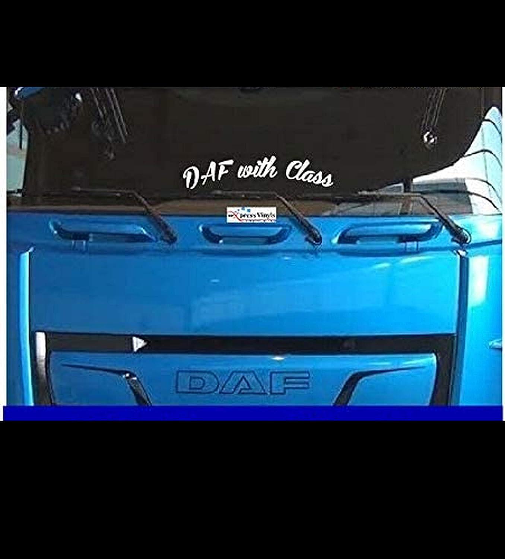 Myrockshirt Schriftzug Dafaufkleber With Class Lkw Truck Windshield Windschutzscheibe Aufkleber Sticker Decal Autoaufkleber Uv Waschanlagenfest Profi Qualität Auto