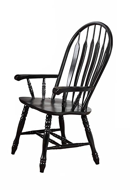 "Sunset Trading Comfort Dining Arm Chair, Antique Black, 41"" - Amazon.com - Sunset Trading Comfort Dining Arm Chair, Antique Black"