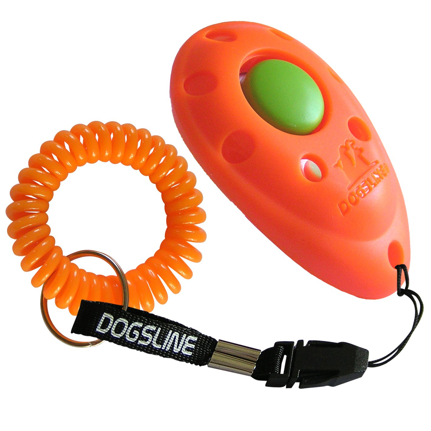 DOGSLINE Profi Clicker mit Spiralarmband für Clickertraining, Hundeschulen Premium Klicker product image